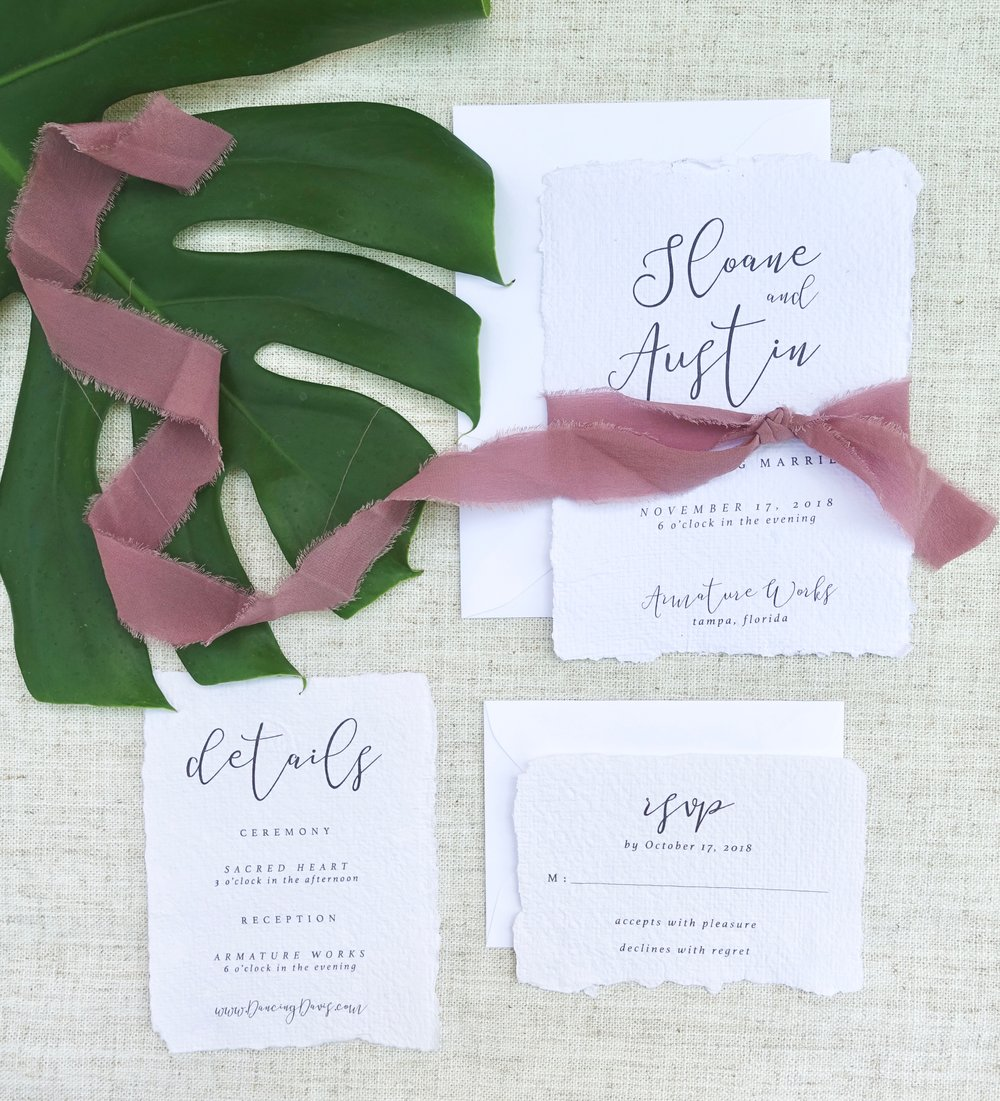 Handmade Paper Wedding Invitation Suite.jpg