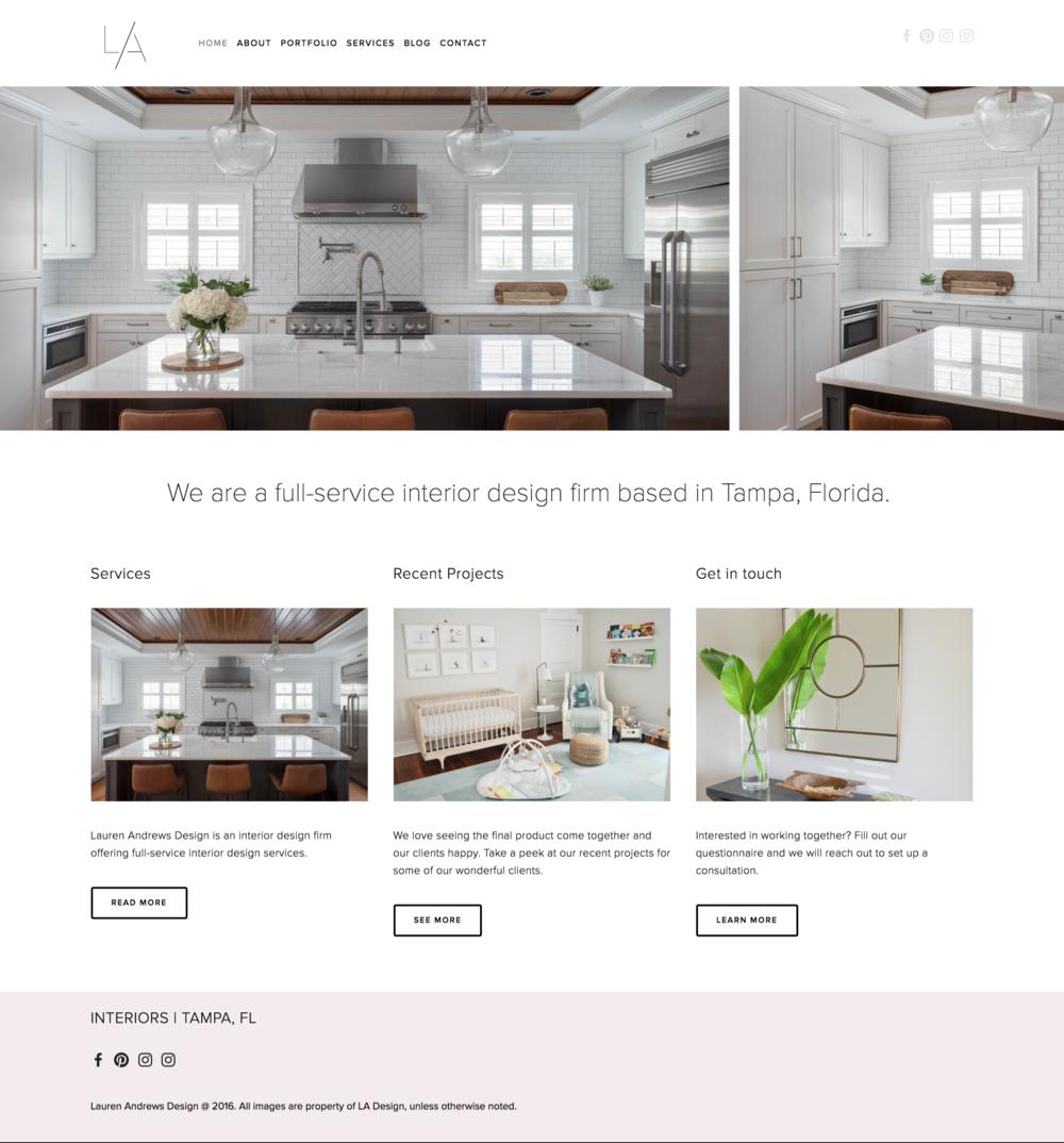 Lauren Andrews Design - Website