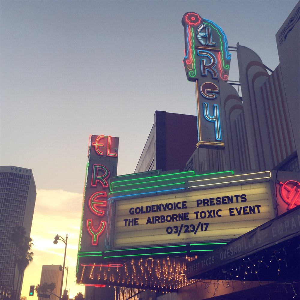 On the eve of Airborne's return, the first of a four show residency at El Rey in Los Angeles, California. Photo by Sarah Cadwell