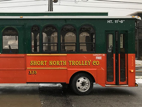 Molly Trolley's - The latest addition to our fleet are two Molly trolleys. The Molly trolley's have a max capacity of 35. They are also handicap accessible.