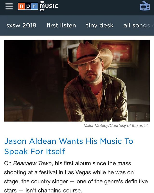 """Check out the premier of """"Drowns The Whiskey"""" by @jasonaldean featuring @mirandalambert on @nprmusic ! 🥃 Link in Bio"""