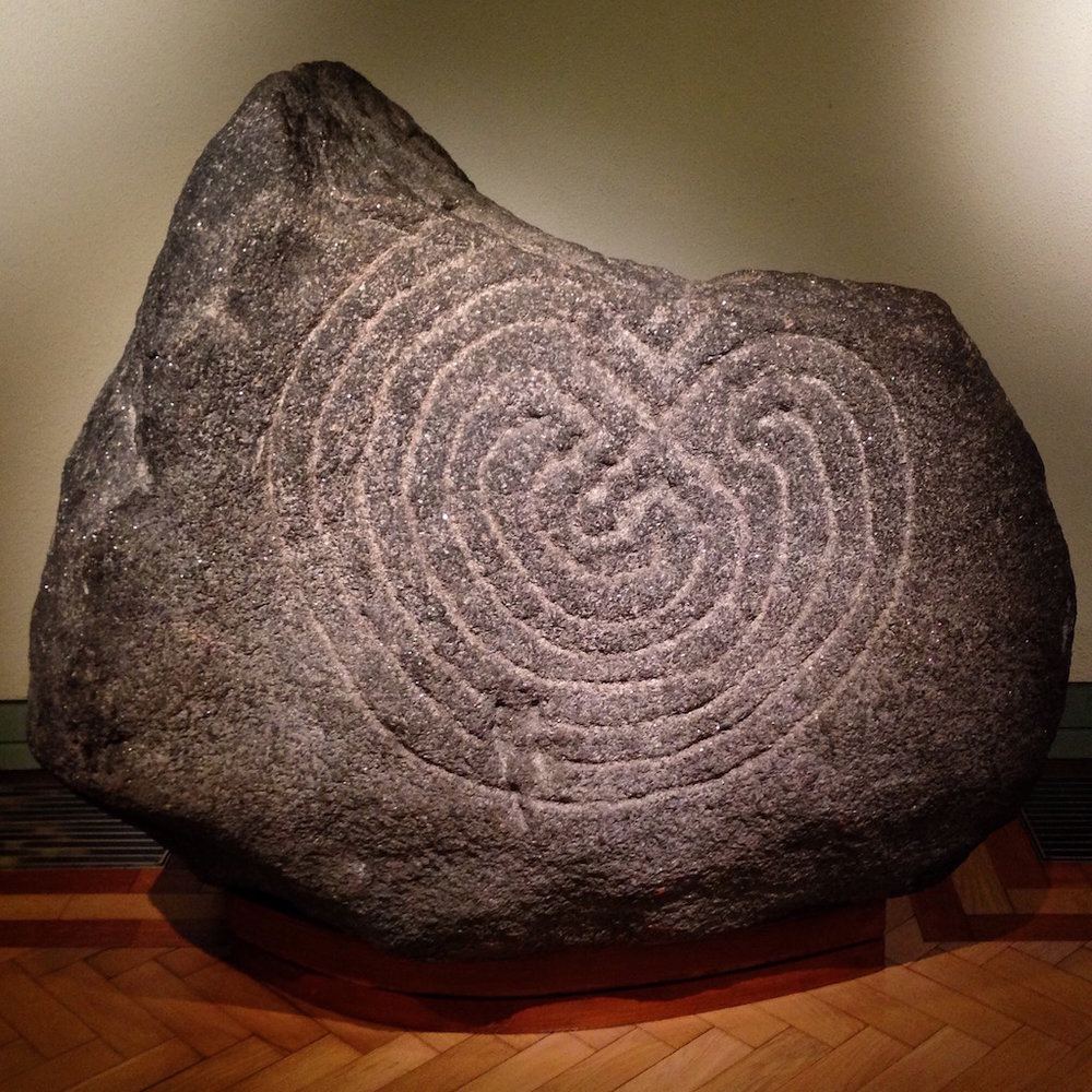 Labyrinth Stone, Glendalough, Co. Wicklow, Ireland