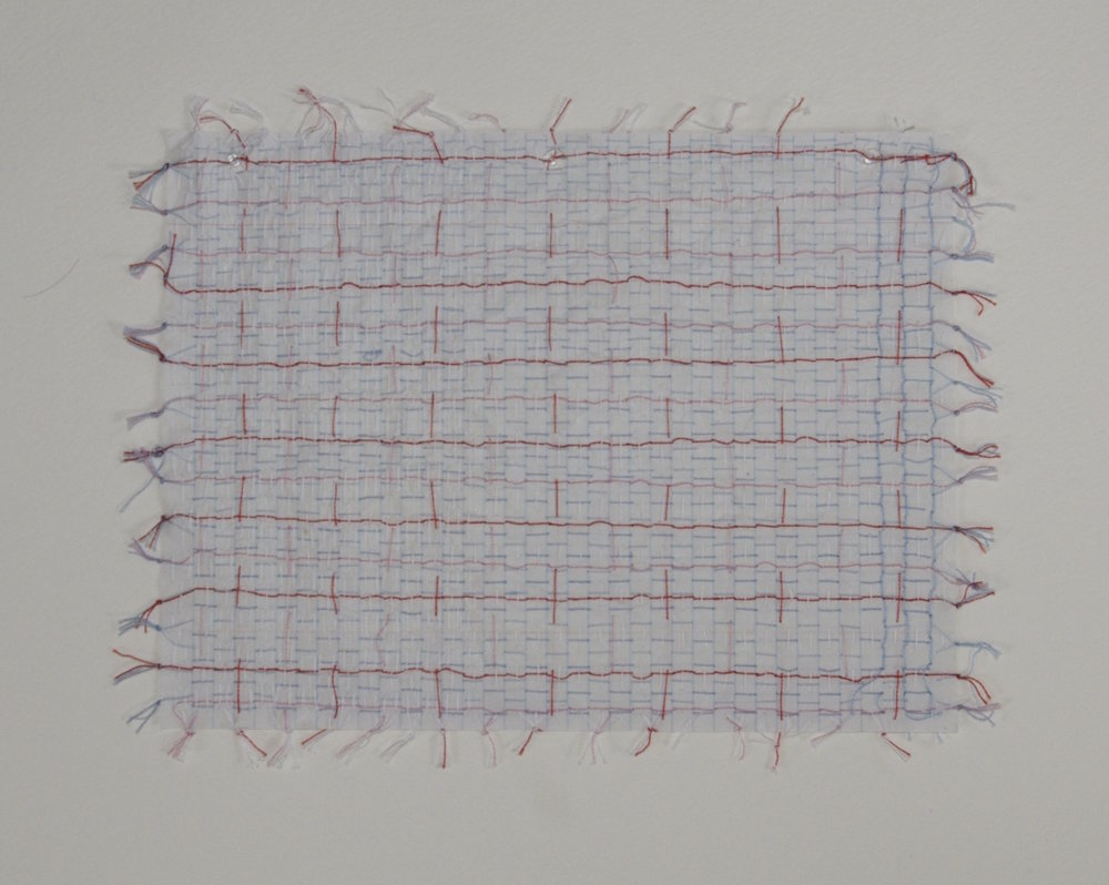 Carpet Page II , 2014, embroidery thread and loose leaf paper