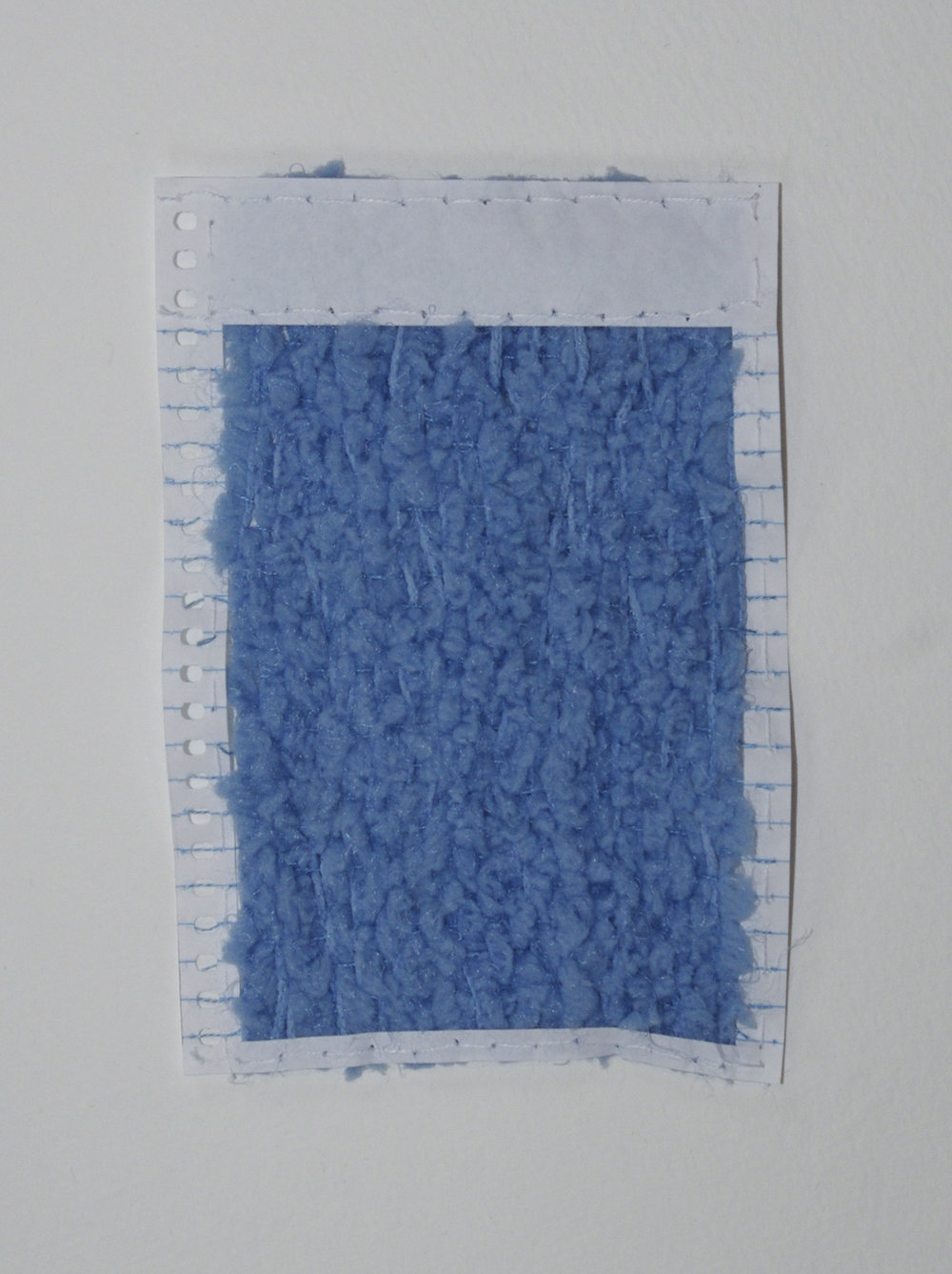 Form and Content (minor) , 2014, yarn and mini notebook paper