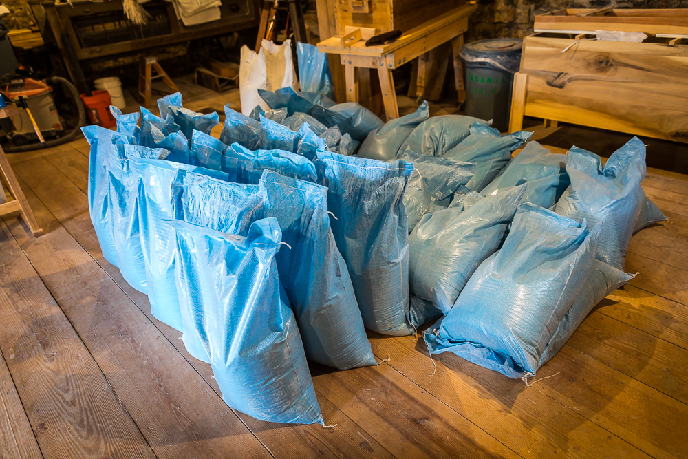 Sacks ready for market