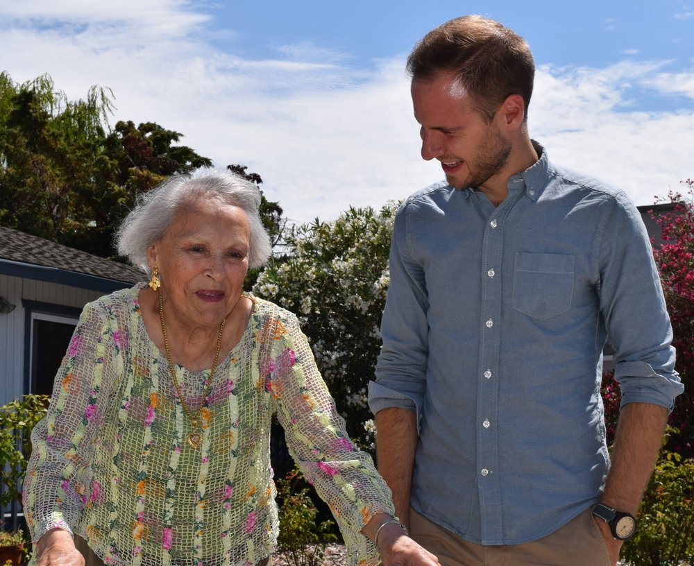 College students provide assistance to seniors in  Burlingame