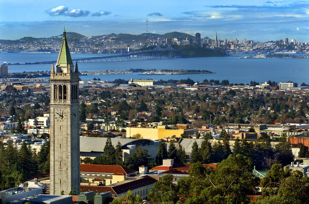 View of UC Berkeley and over the Bay