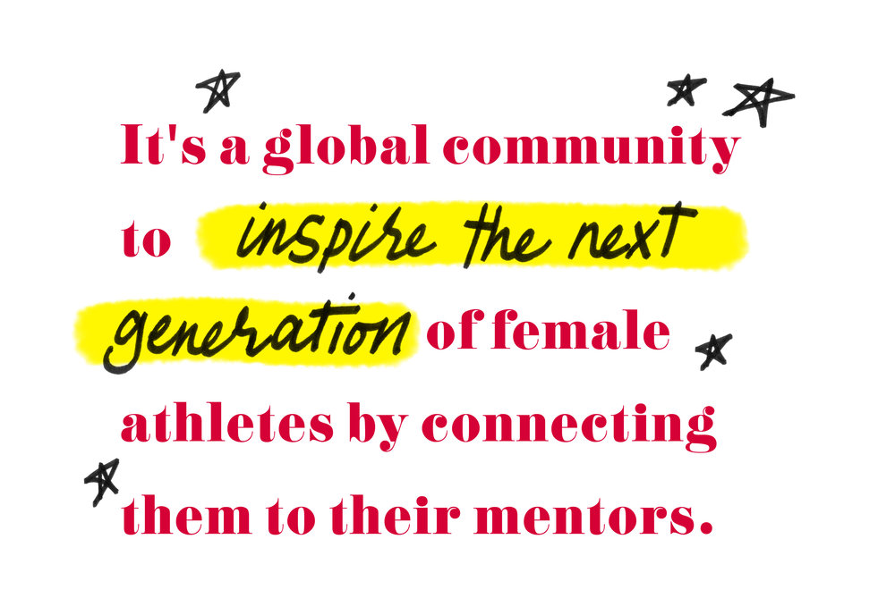 "Quote by Nastia Liukin - ""It's a global community to inspire the next generation of female athletes by connecting them to their mentors."""