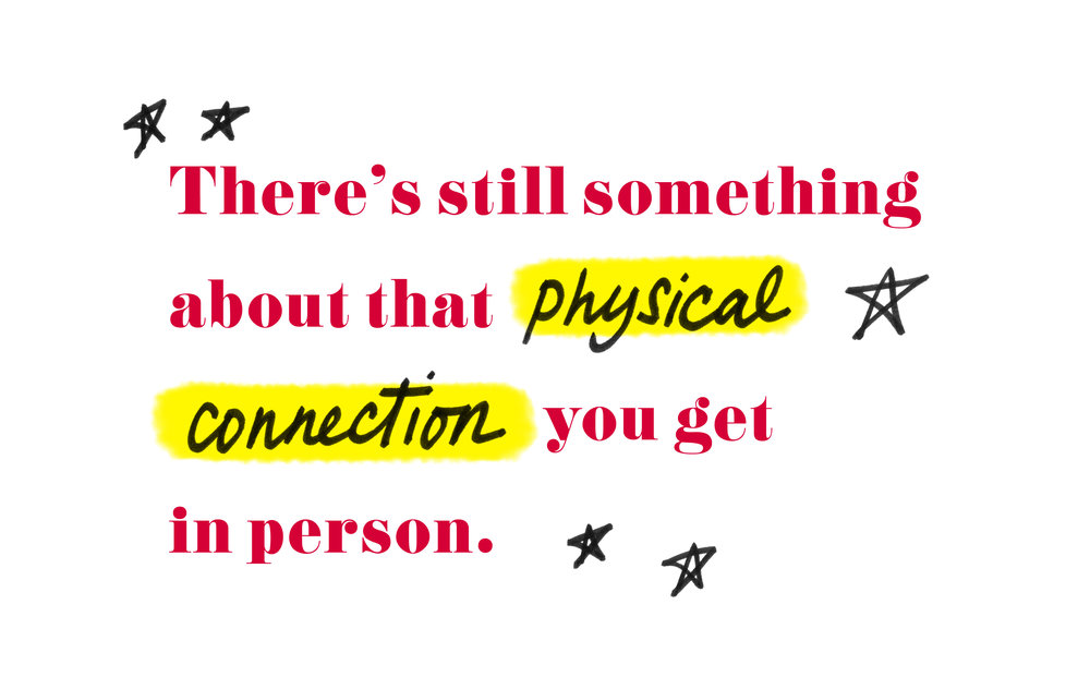 "Quote by Nastia Liukin - ""There's still something about that physical connection you get in person."""