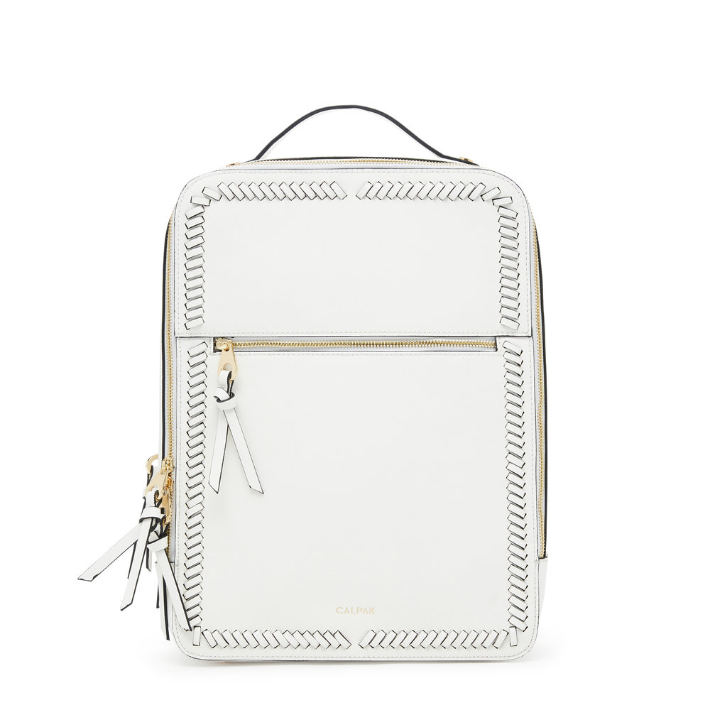 Kaya Laptop Backpack - White -