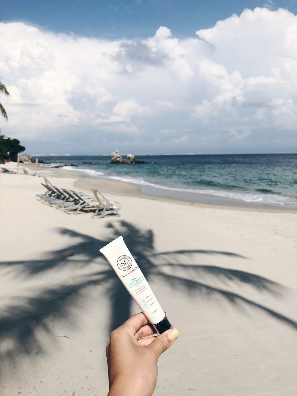 Skin Laundry SPF (Travel-Size) - SL's travel-sized SPF fits in any small travel pouch and makes it easy to reapply without lugging around a large bag. This daily moisturizer with SPF 35 even has Arnica montana extract to heal while it protects.