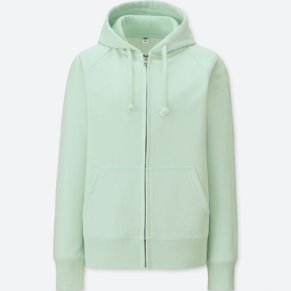 Uniqlo Women Sweat Long-Sleeve Full-Zip Hoodie
