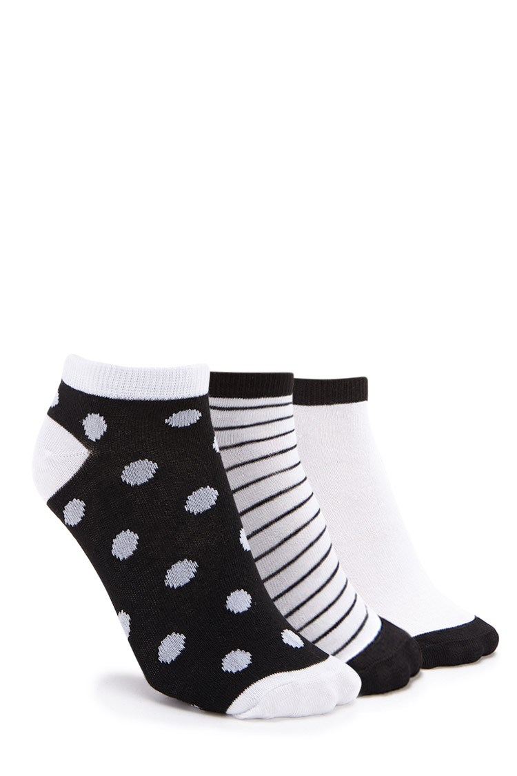Forever21 Patterned Ankle Sock Set - 3 Pack