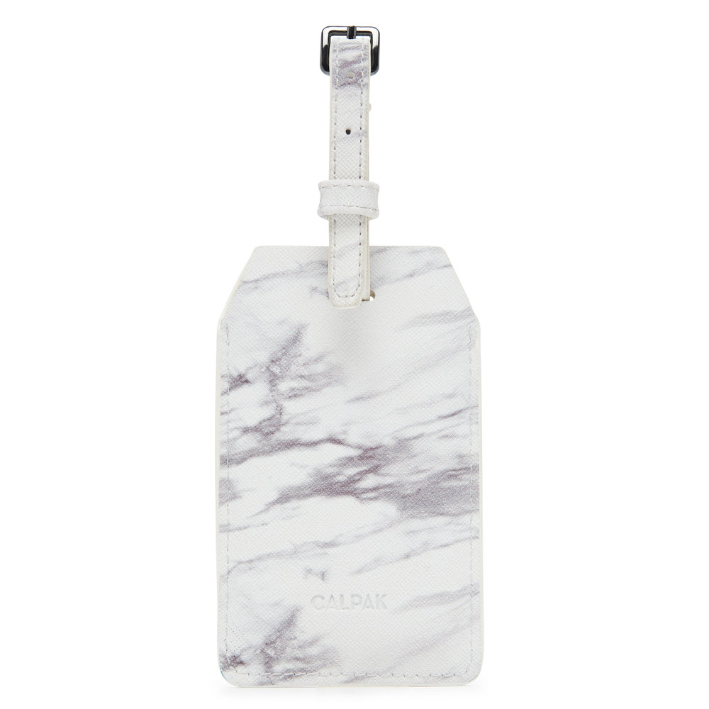 Power Luggage Tag - Milk Marble