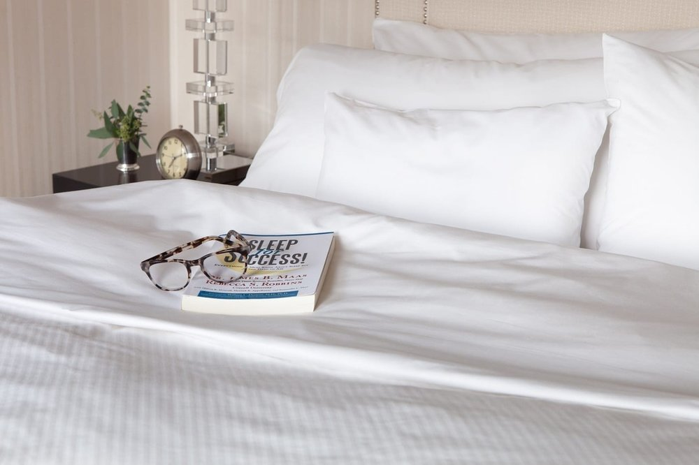 The Benjamin (New York) - Rest & Renew Program     AMENITIES:  The Rest & Renew Program comes with a curated pillow menu, on demand meditation, bedtime bites, in-room pampering and spa treatments, 24/7 sleep team, a Rest & Renew menu for best sleep solutions, and more.