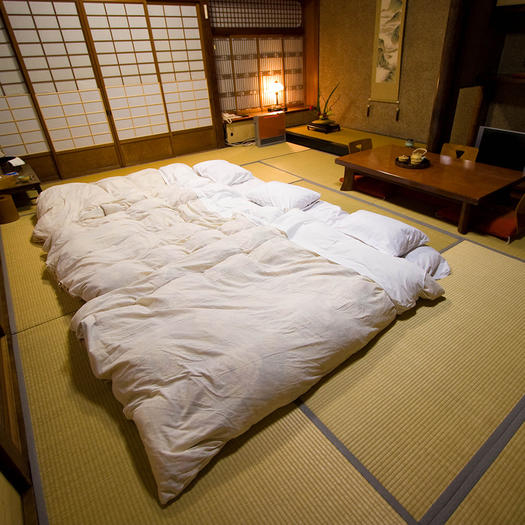Kayotei (Yamanaka, Japan)     AMENITIES:  Kayotei offers their guests private hot tubs, studios visits and artisan's workshops, day trips to mountains and temples, nature walks, very peaceful environments, and more.