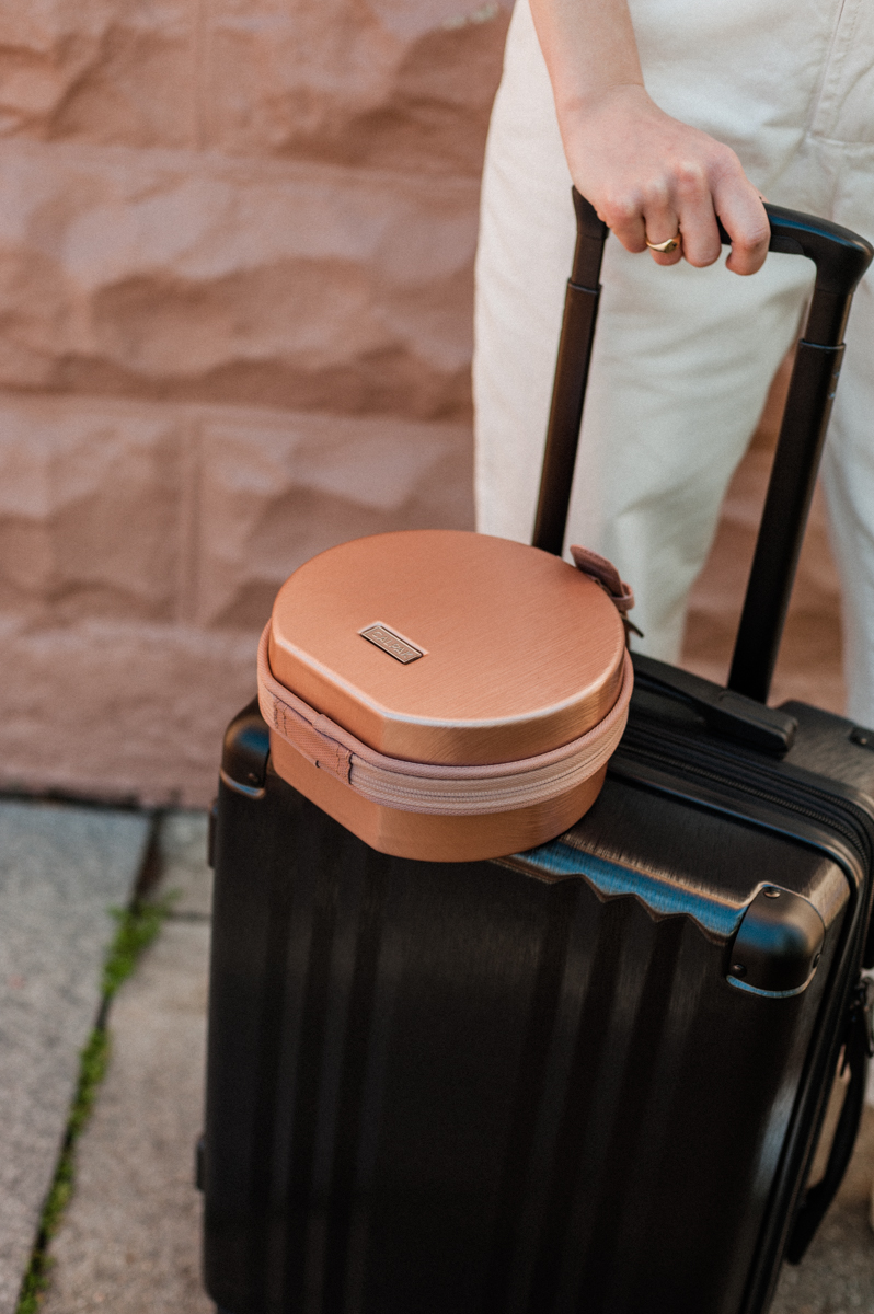 For when you need it to go wherever you go. - Strap Mini Baye onto your luggage to stay hands free.