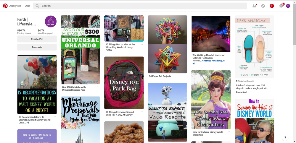 The Pinterest Smart feed is the home feed, like in the example of Favemom.com's Smart Feed