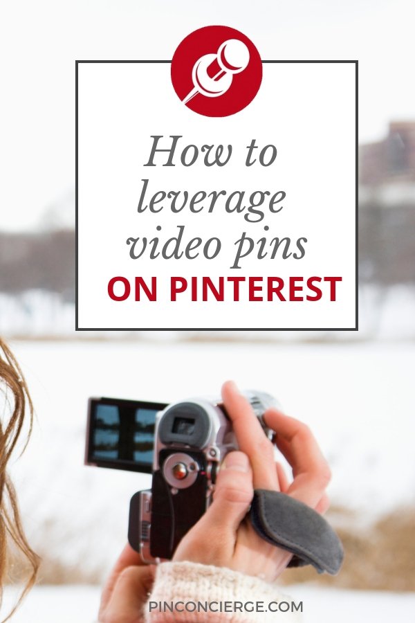 How to make and market video Pins on Pinterest to help your business. And what to expect from video pins. #pinterestmarketing #videomaking #pinconcierge