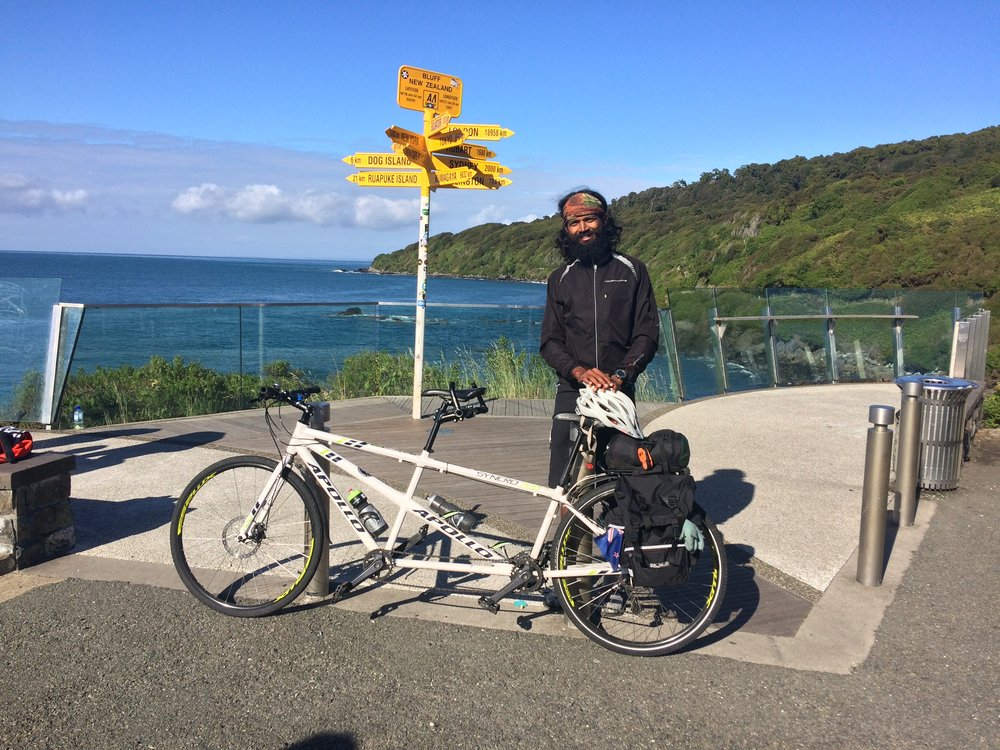 Completed Freedom Seat at Bluff, NZ. Rode 3330.2 km with 140 people and raised over $55,000.