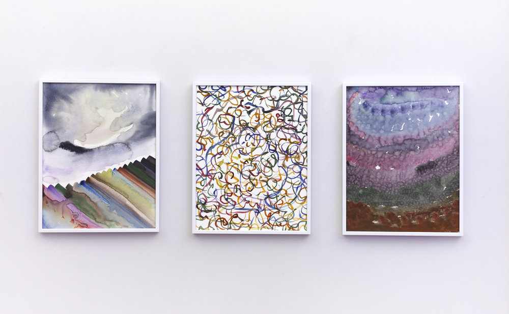 aimlessly pretty (II) 168 (1) , 2017  aimlessly pretty (II) 57 (1) , 2017  aimlessly pretty (II) 57 (1) , 2017 Watercolour on fabriano HP paper, 36 x 28 cm, collection of OPW