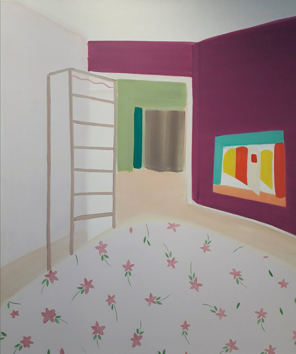 Please knock , 2018 oil on canvas, 140cm X 120cm