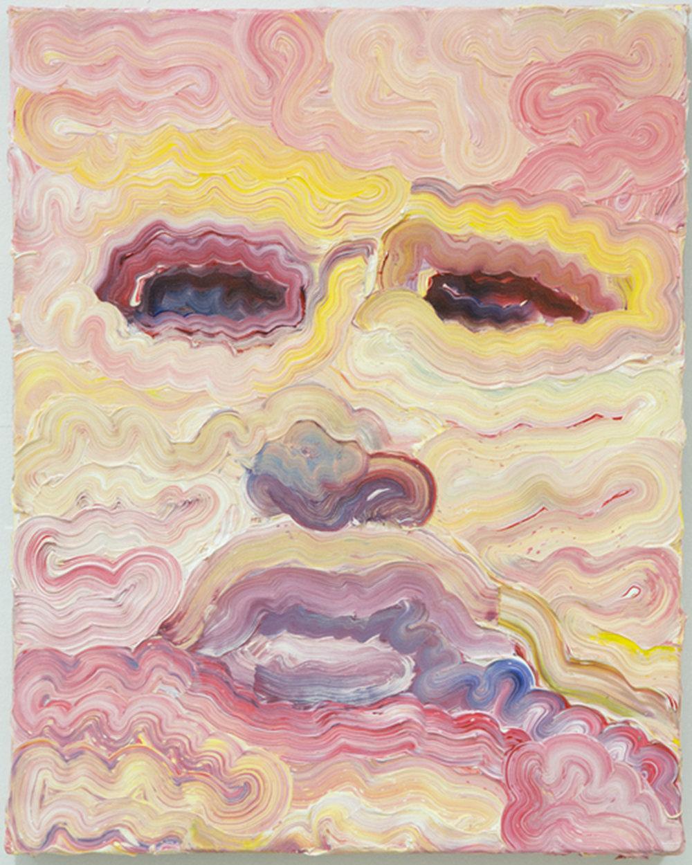 "Untitled,  2015 Oil paint, 16""x20"""