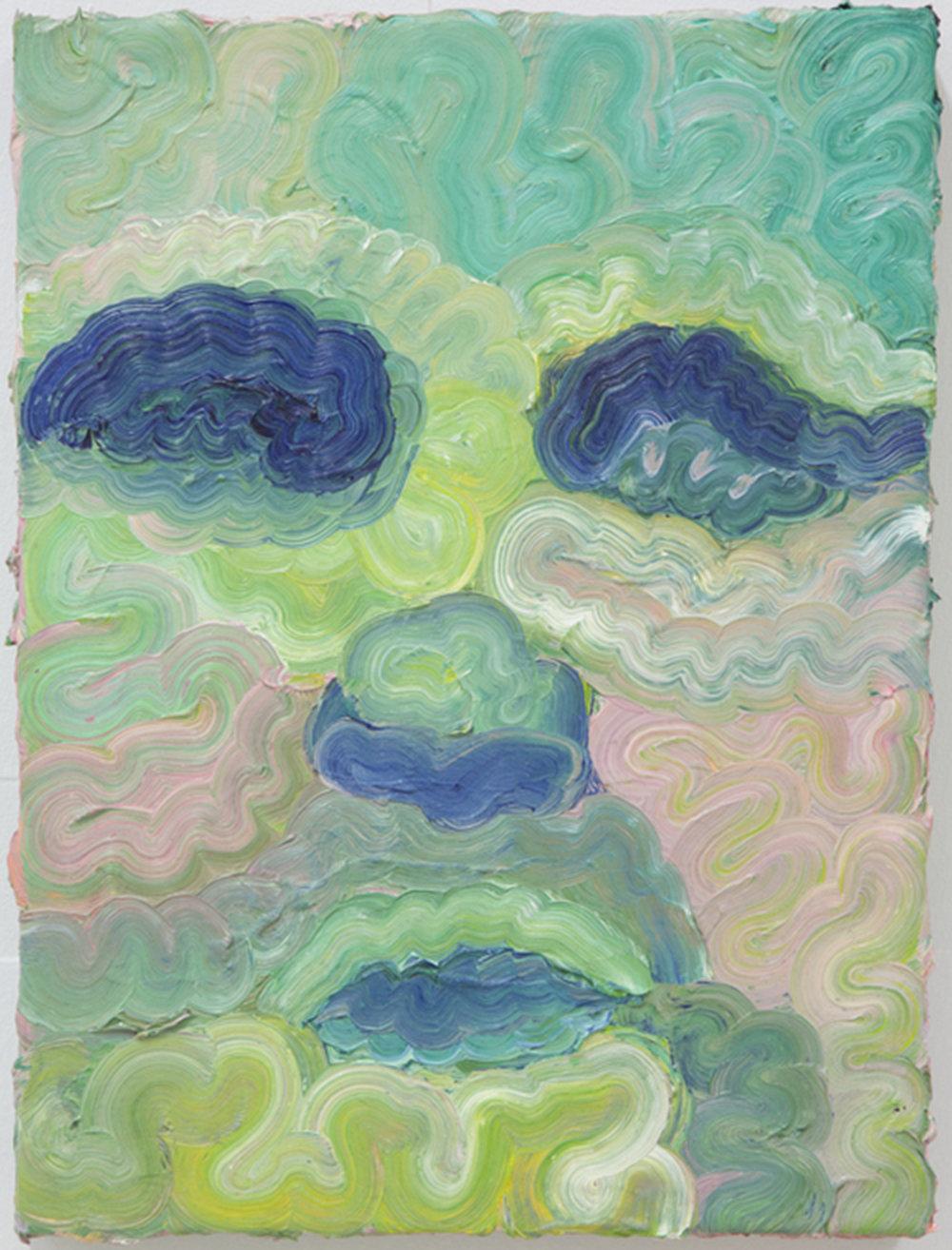 "Untitled  , 2015 Oil paint, 12""x16"""