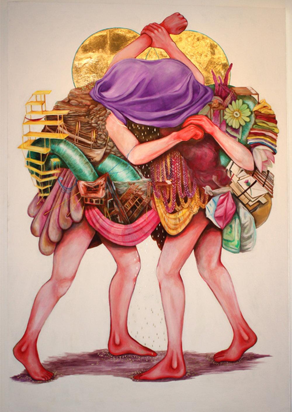 The Struggle,  2015 Ink on paper, 28cm x 35cm