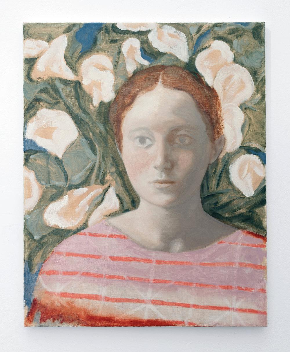 Calla lilies , 2018 Oil on linen, 50.5cm x 40cm