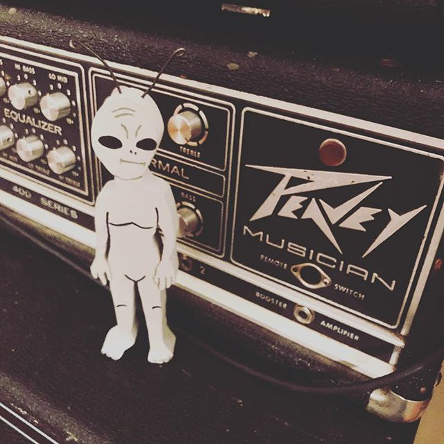 In the studio with Herman #mascot #thetruthisoutthere #peavey