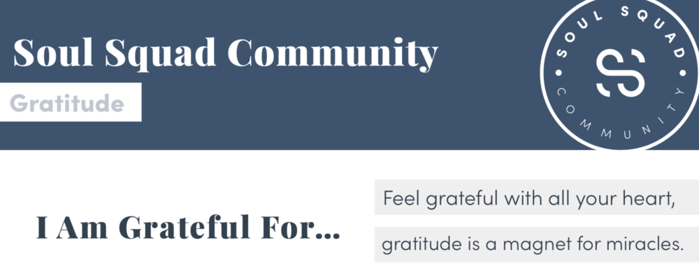 Gratitude Practice - Gratitude can help you drastically shift your energy to a more positive state, especially if you practice it consistently on a daily basis. If you want to start a gratitude practice, you can use this PDF, a note in your phone or a journal. Try writing down at least one thing that you're grateful for every day. You can write as little or as much as you'd like, but make sure you start your line with,