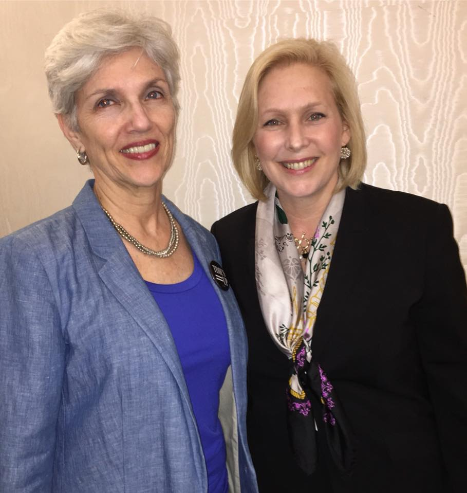 Pat Strong with Senator Kirsten Gillibrand - At the Democratic Rural Conference April 14, U.S. Senator Kirsten Gillibrand spoke about the need to make job creation and retention central to the Democratic platform this year.