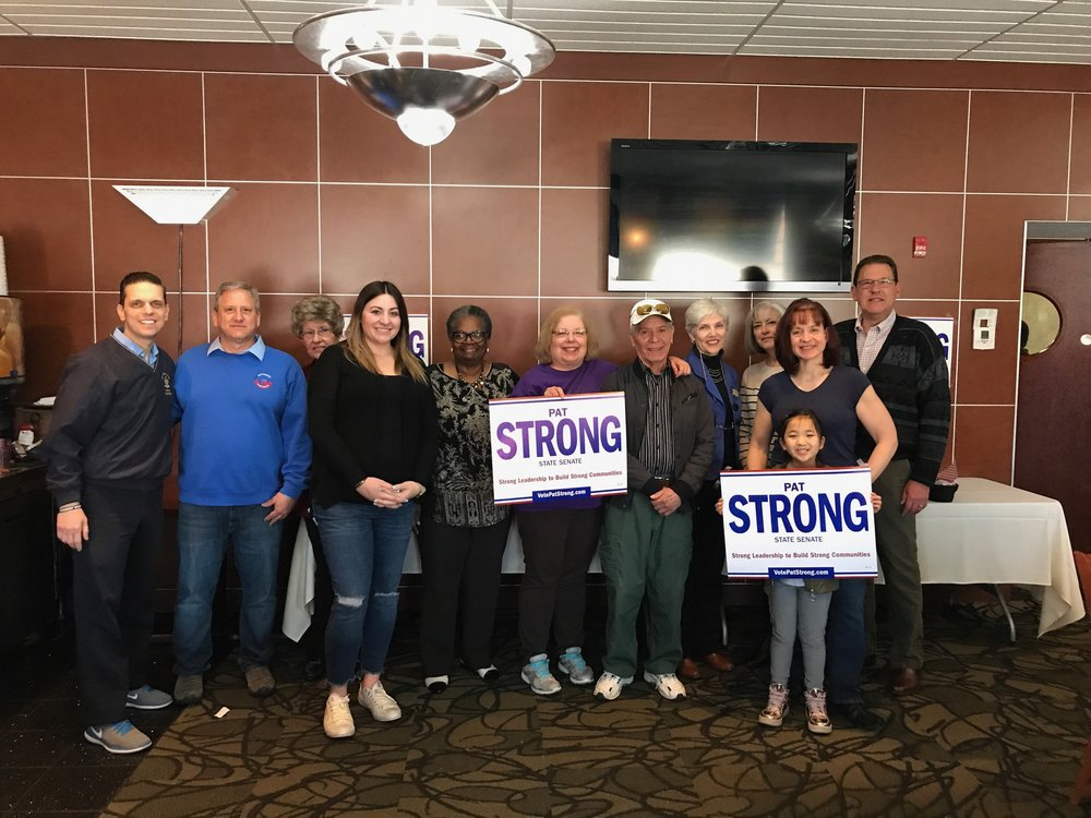 Pat Strong with Rotterdam Democratic Town Committee