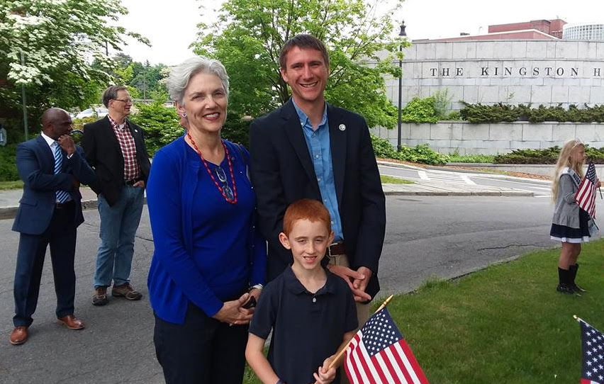 Thank you, Kingston Mayor Steve Noble for endorsing me at the Democratic endorsement convention on May 21st. I connected with Steve and his son, Matthew, at the Memorial Day observance at City Hall on Monday.