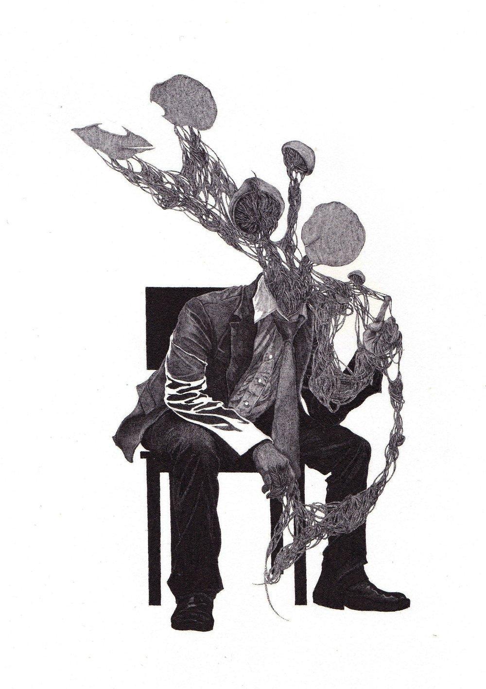 © Bosco Law , 《對話 Conversation》,墨水紙本 Ink on paper ,2013