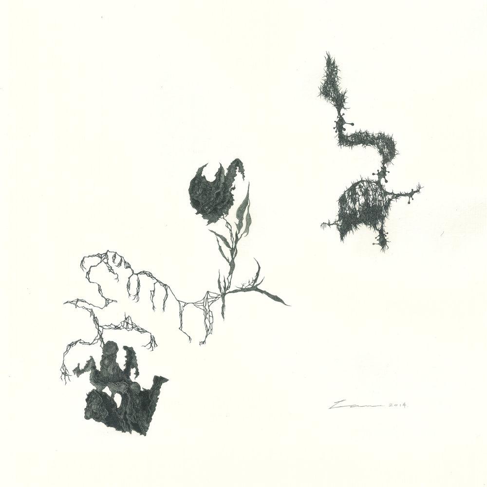 ©Bosco Law, 《隨機圖象 #004 Random images #004》,墨水紙本 Ink on paper,2014