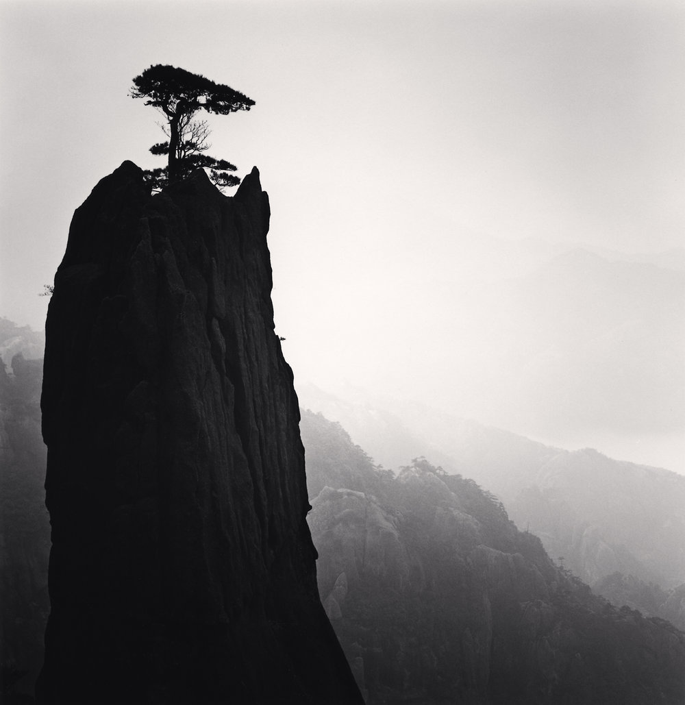 "©Michael Kenna  ""Huangshan Mountains, Study 21, Anhui, China, 2009"""