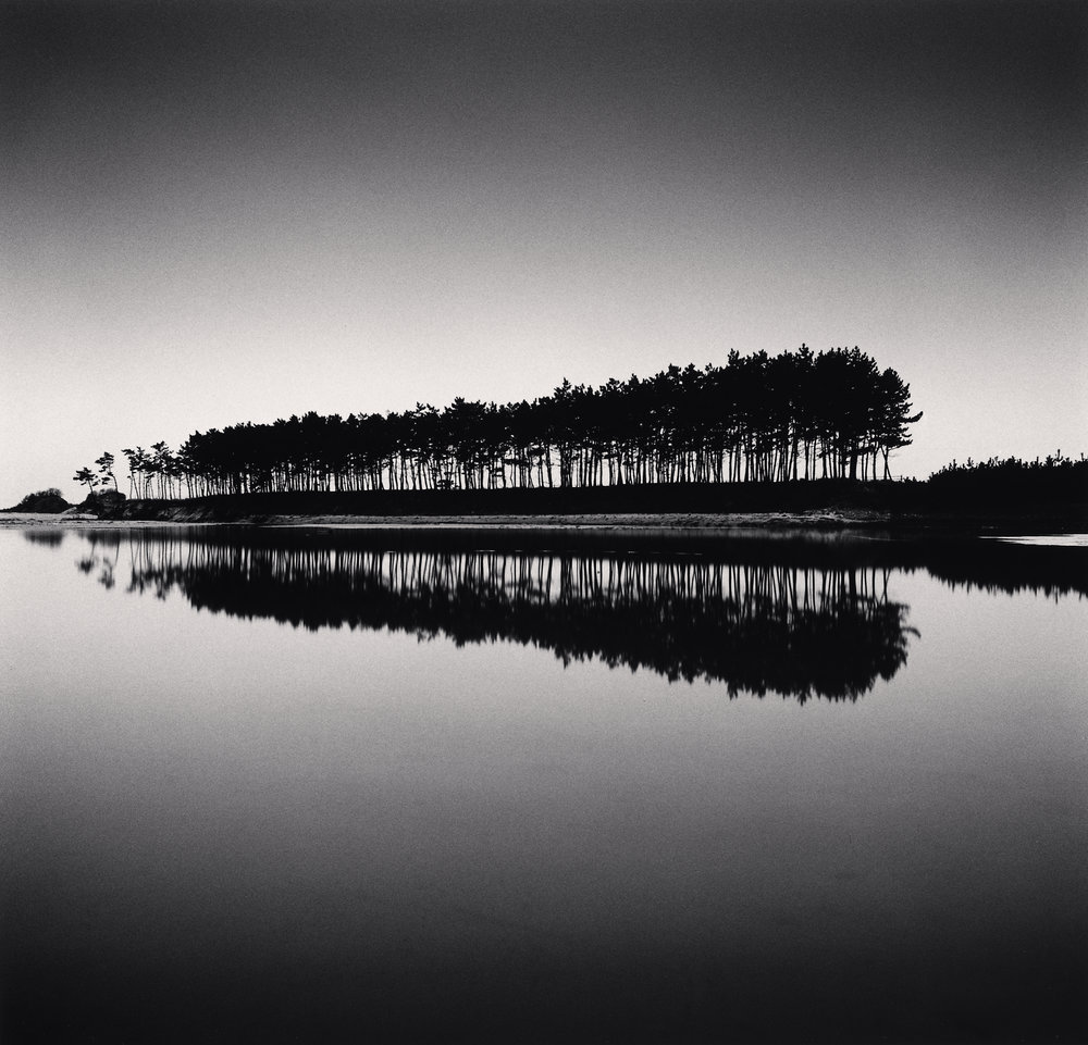 "©Michael Kenna ""Pine Trees, Study 5, Unyeo Beach, Chungcheongnam-do, South Korea. 2018"""