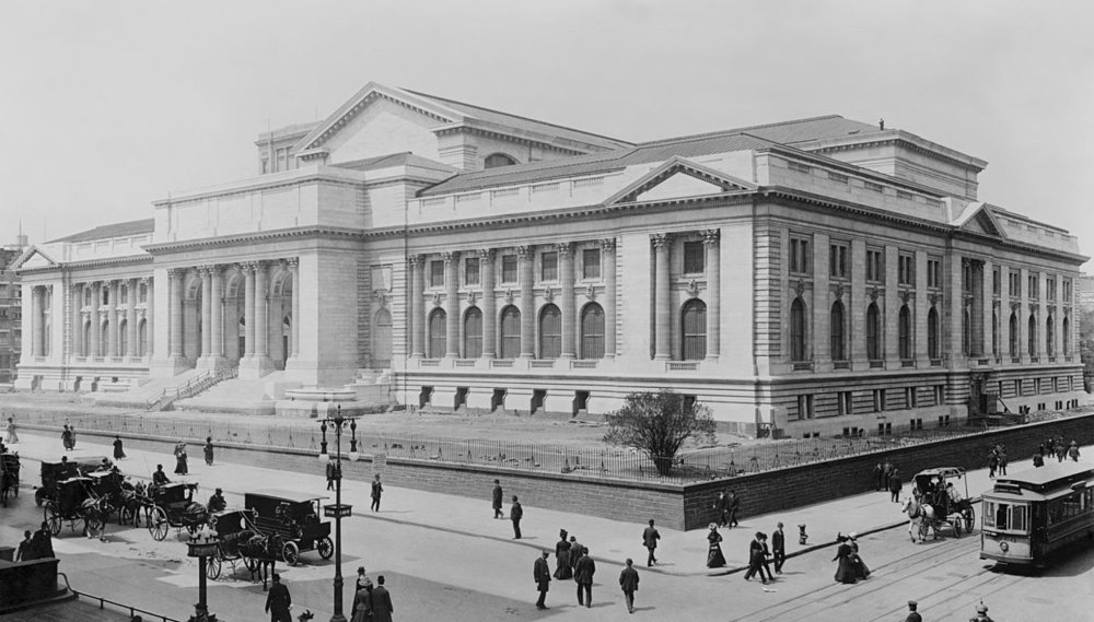 The  Stephen A. Schwarzman Building  of the New York Public Library 1908. Photo from Wikipedia.