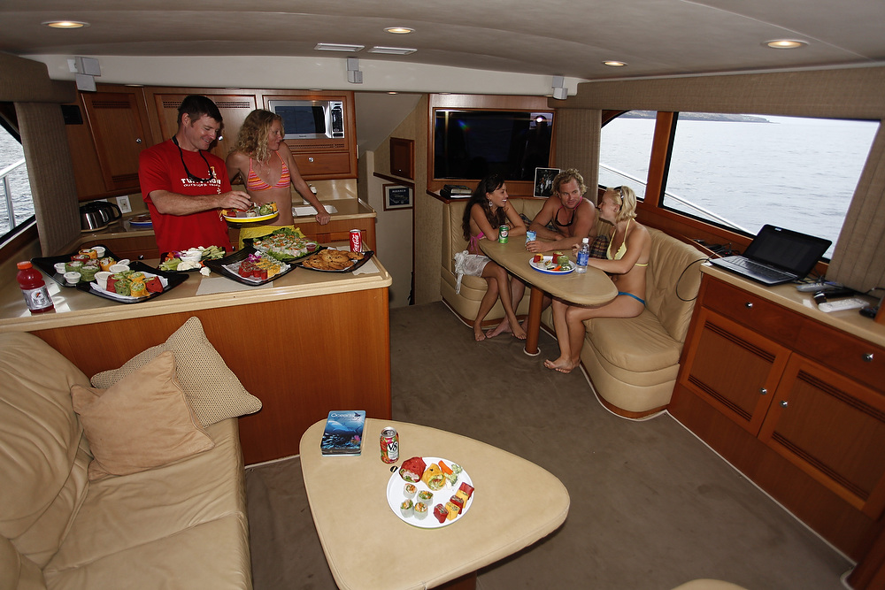 Spacious lounge and galley.JPG