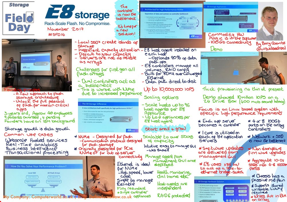 E8 Storage at #SFD14