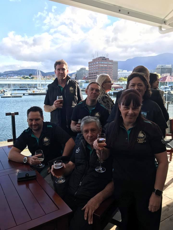 The crew at the announcement of the 2017 Tasmanian Tourism Awards - Celebrating reaching the finals!