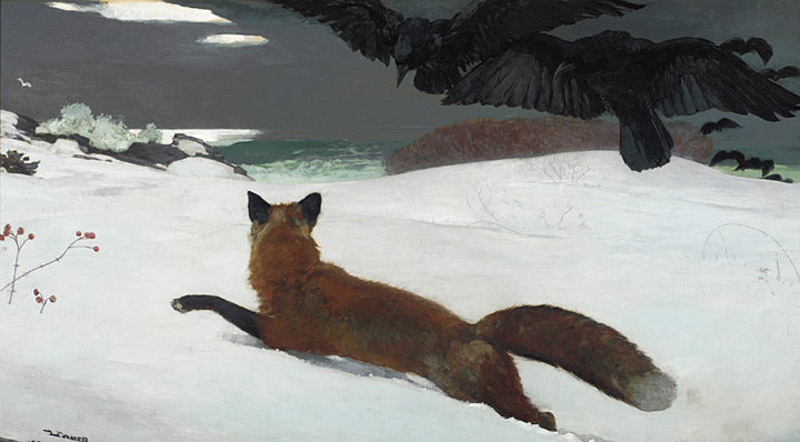 Winslow Homer's  The Fox Hunt  | 1893 | oil on canvas
