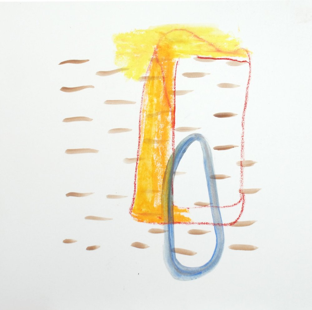 Cill Rialaig In The Rain - Mixed Media on Paper | 28cm x 28cm | 2012