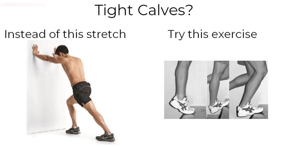 Runner calf stretch