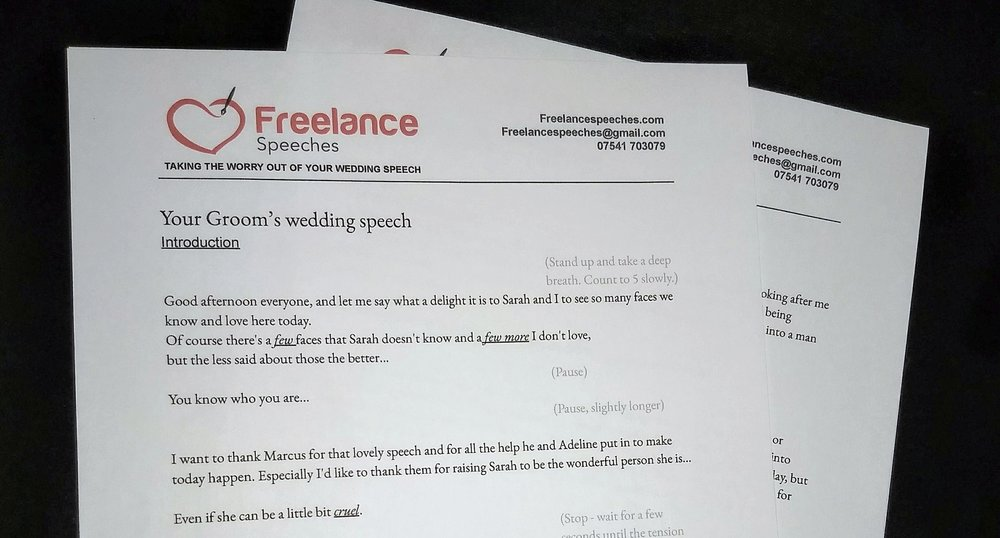 Why choose Freelance Speeches? - There are several people out there offering to help write your wedding speech. Here's what makes me different!