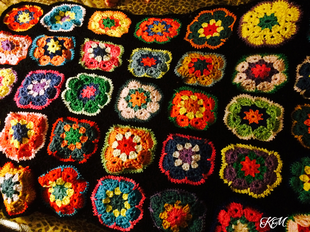 Project Crochet African Flower Blanket Kitchen Missus