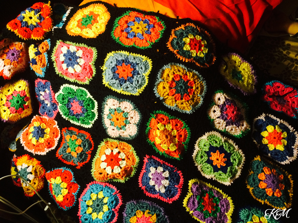 crochet african flower blanket