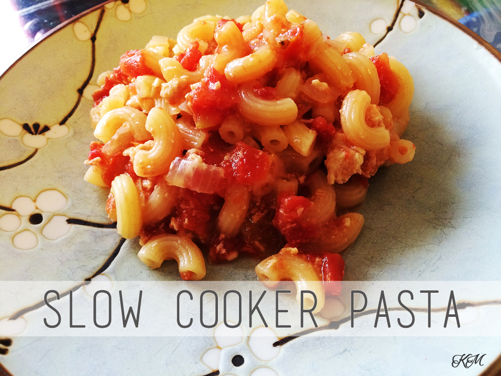 Lazy Mum's Slow Cooker Pasta